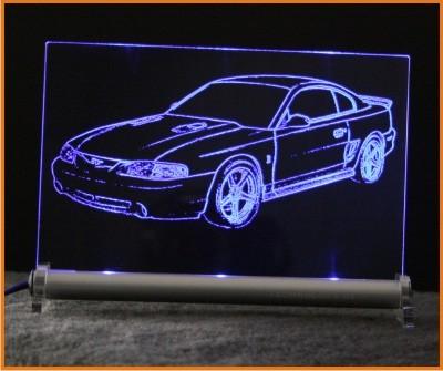 Ford Mustang GT IV / COBRA LED Leuchtschild