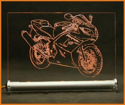 Triumph Daytona 650 LED Leuchtschild