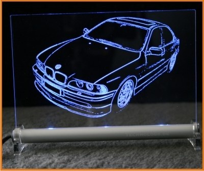 BMW 5 E39 Limousine LED Leuchtschild