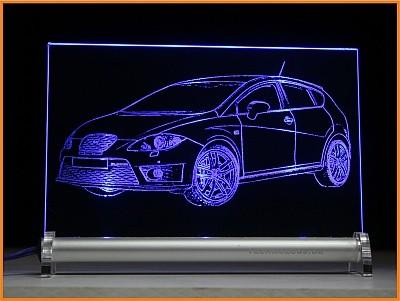 Seat Leon 1P Cupra R LED Leuchtschild