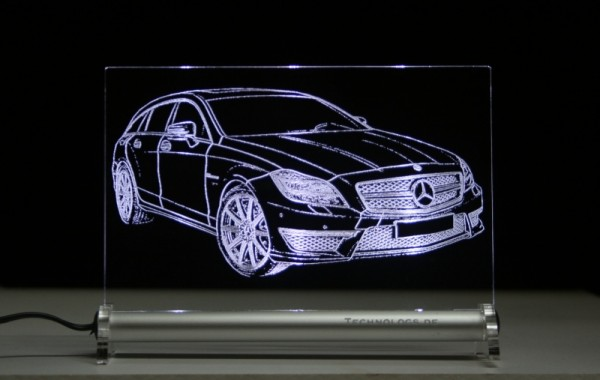 Mercedes CLS Shooting Brake x 218 LED Leuchtschild