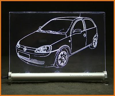 Opel Corsa C 2-türer LED Leuchtschild
