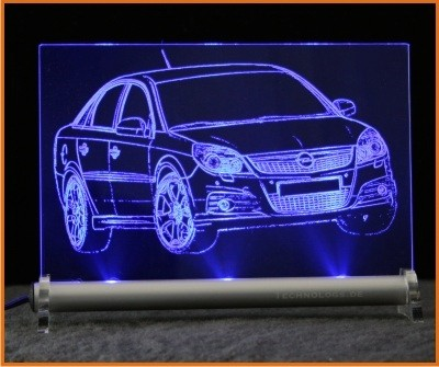 Opel Vectra C GTS LED Leuchtschild