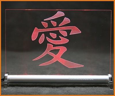 Chinesisches Zeichen Liebe LED Leuchtschild