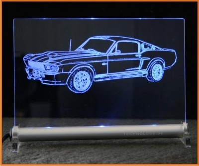 Shelby Ford Mustang GT500 Eleanor LED Leuchtschild