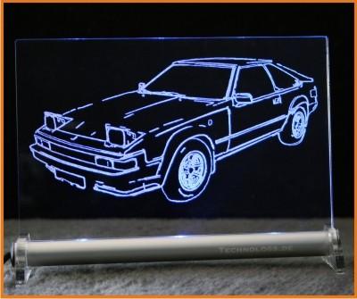 Toyota Supra MKII LED Leuchtschild
