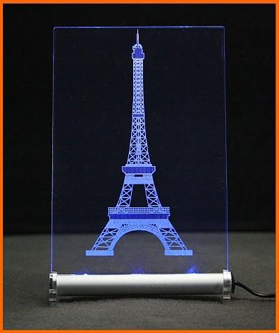 Eiffelturm Paris LED Leuchtschild