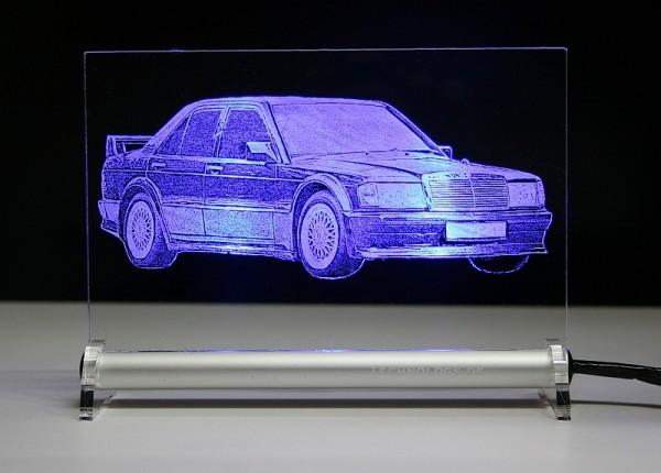 Mercedes 190 w201 2,5 LED Leuchtschild