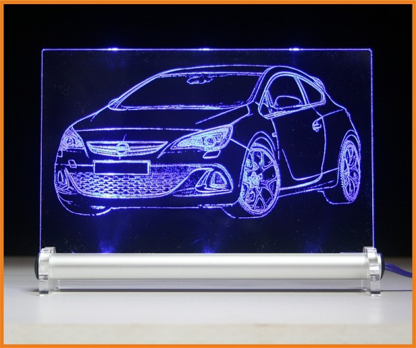 Opel Astra OPC LED Leuchtschild