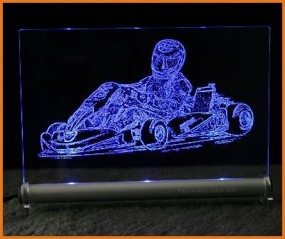 Kart GoKart LED Leuchtschild