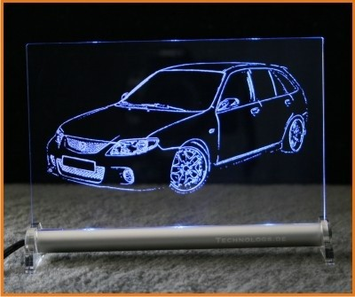 Mazda 323 GTR LED Leuchtschild