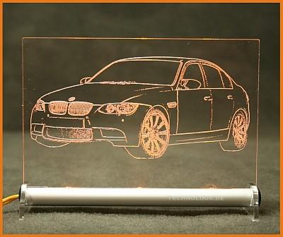 BMW 3 E90 Limousine LED Leuchtschild