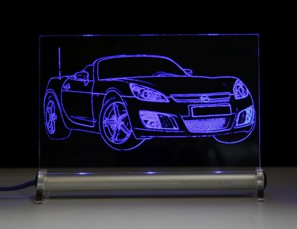 Opel GT Roadster LED Leuchtschild