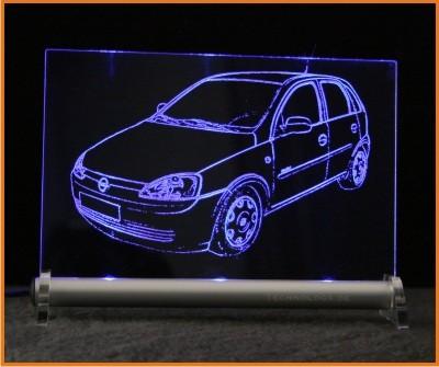 Opel Corsa C LED Leuchtschild