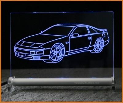 Nissan 300 ZX LED Leuchtschild