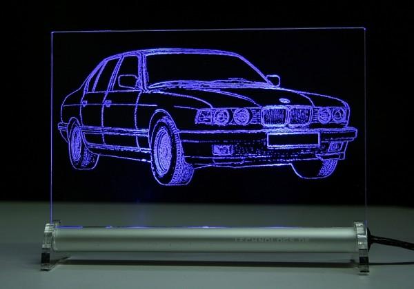 BMW 7 E32 LED Leuchtschild