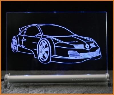 Renault Megane Sport LED Leuchtschild