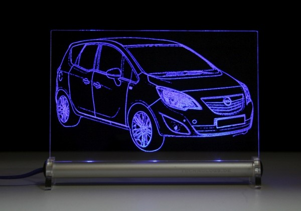 Opel Meriva B LED Leuchtschild