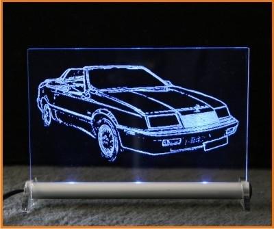 Chrysler Le Baron LED Leuchtschild
