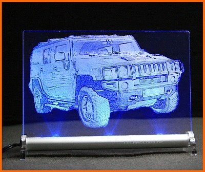 Hummer H2 LED Leuchtschild
