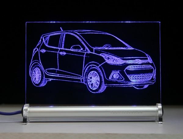 Hyundai i10 LED Leuchtschild