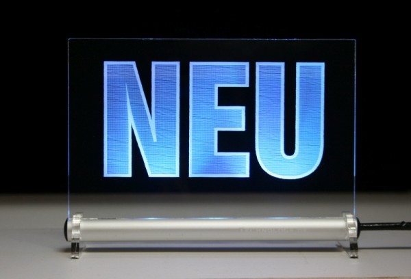 NEU - Hinweisschild LED Leuchtschild