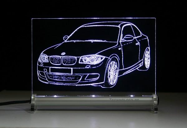 BMW 1er Coupe E82 M Sport LED Leuchtschild