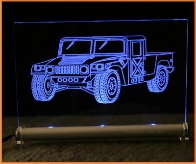 Hummer H1 LED Leuchtschild