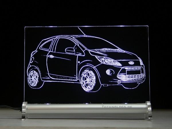Ford Ka RU8 ab BJ 2008 LED Leuchtschild