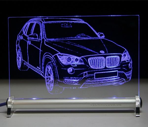 BMW X1 LED Leuchtschild