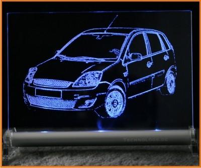 Ford Fiesta LED Leuchtschild