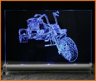 Trike LED Leuchtschild