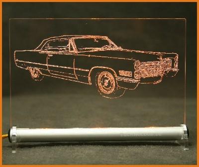 Cadillac DeVille 1966 LED Leuchtschild