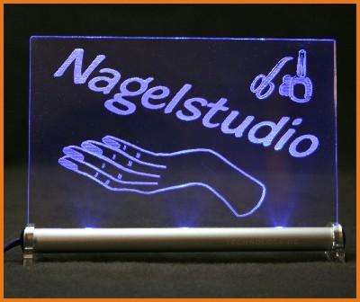 Nagelstudio LED Leuchtschild
