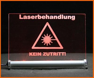 Laserbehandlung Vorischt Laser Kein Zutritt Leuchtschild Warnschild