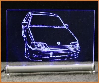 Opel Omega A LED Leuchtschild