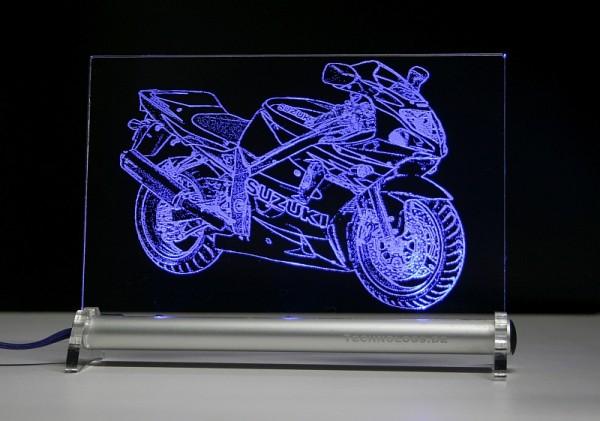 Susuki GSX R600 K1 2001 LED Leuchtschild