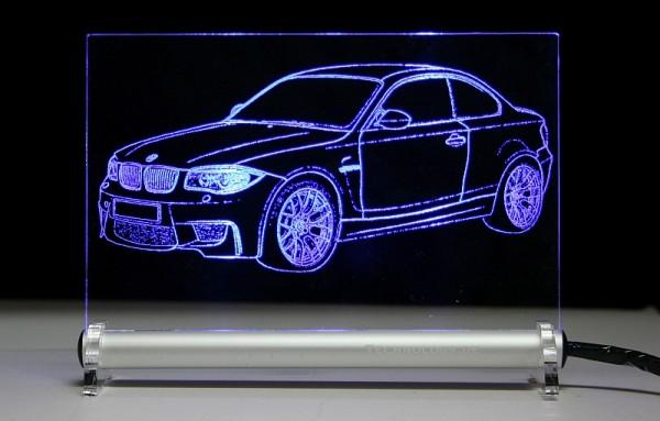 BMW 1M LED Leuchtschild