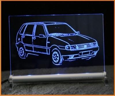 Fiat Uno LED Leuchtschild