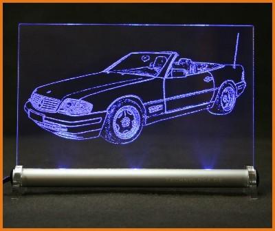 Mercedes 500 SL R129 LED Leuchtschild