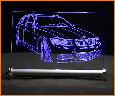 BMW 3 E91 Touring LED Leuchtschild