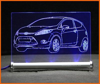 Ford Fiesta MK7 JA8 LED Leuchtschild
