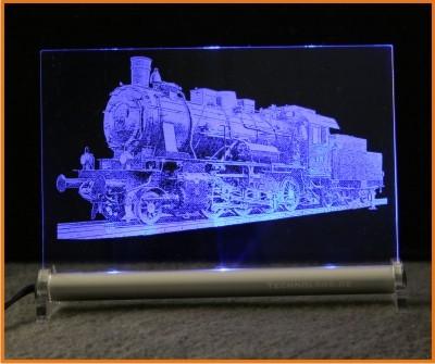Dampflokomotive LED Leuchtschild