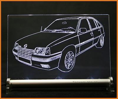 Opel Kadett E Snow 5-t LED Leuchtschild