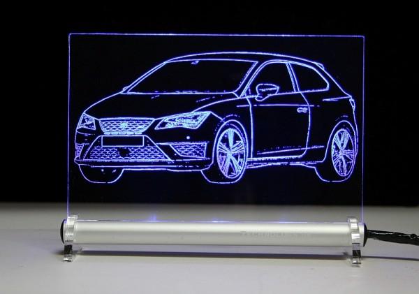 Seat Leon SC III Cupra 5F LED Leuchtschild