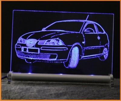 Seat Ibiza 6L LED Leuchtschild