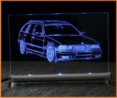 BMW 3er E36 touring LED Leuchtschild