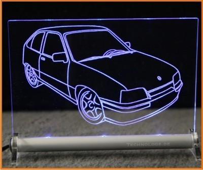 Opel Kadett E LED Leuchtschild