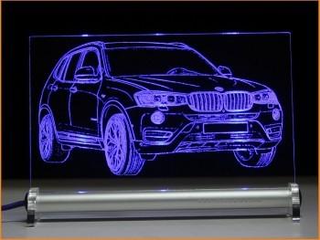 BMW X3 LED Leuchtschild