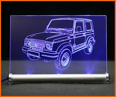 Suzuki Samurai LED Leuchtschild